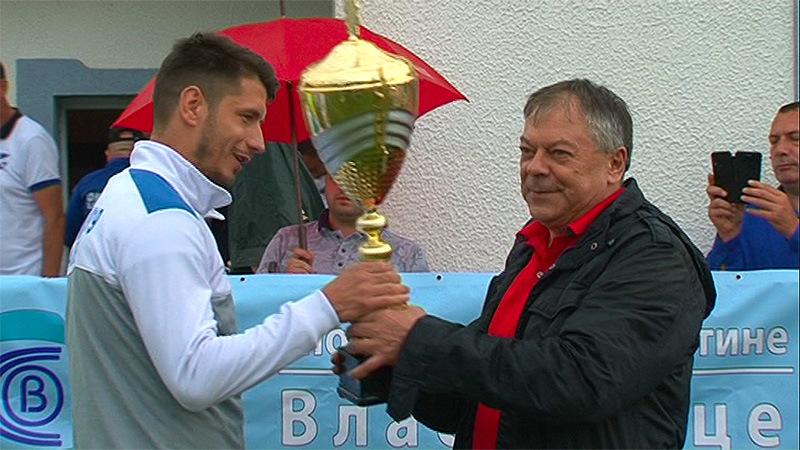 Vlasotince: Ministar Tončev uručio pehar Timoku, prvaku Srpske lige Istok