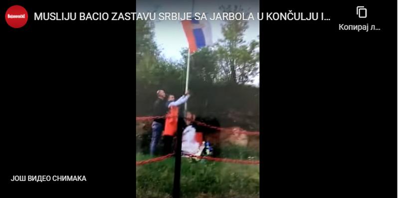 Zamenik predsednika opštine Bujanovac pozvan u policiju zbog skidanja srpske zastave u selu Končulj