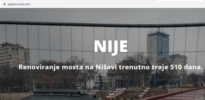 Osvanuo sajt koji odbrojava dane od početka rekonstrukcije Tvrđavskog mosta