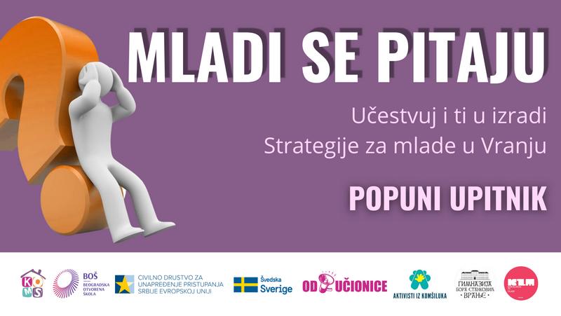 Poziv za učešće udruženja mladih u izradi Strategije unapređenja položaja mladih