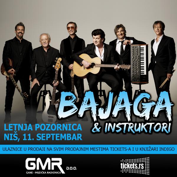 Bajaga i instruktori septembra na Letnjoj pozornici u Nišu