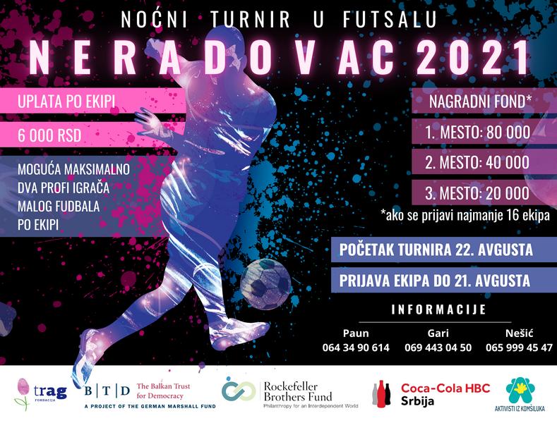 Noćni turnir u futsalu u Neradovcu kod Vranja