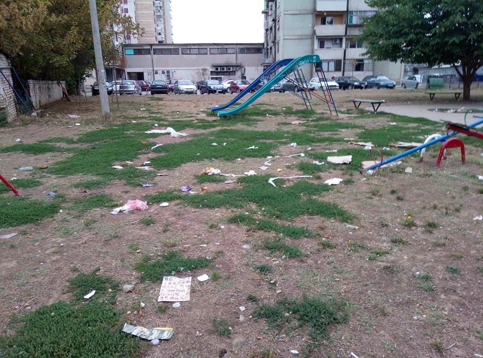 Park iza Madere prepun smeća, zaboravilo se na zaštitu životne sredine?!