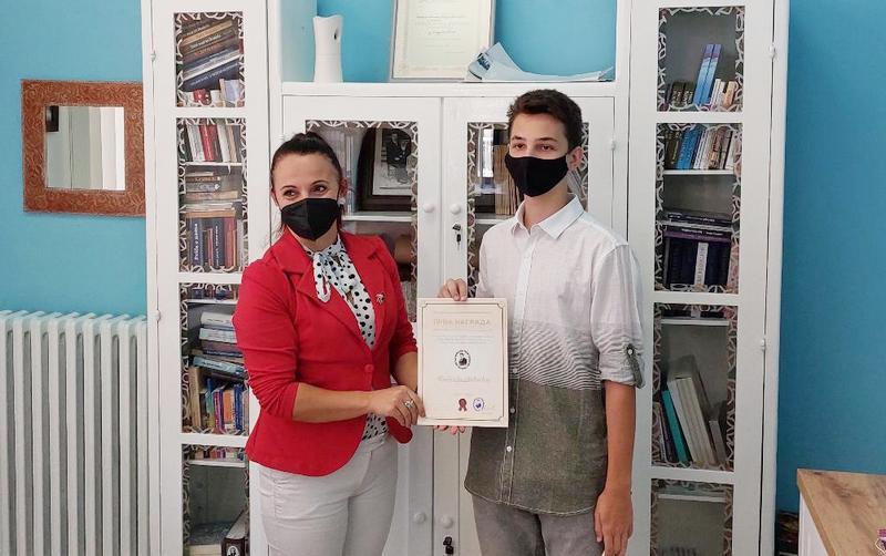 Mateji Joviću prva nagrada leskovačke biblioteke za logo Festivala dečjeg stvaralaštva