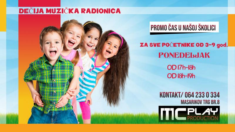 Promo čas: Dečija muzička radionica u MCPlay Production-u