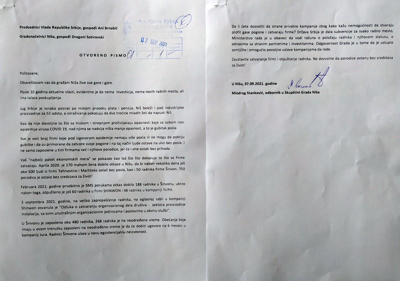 SSP: Šinvon u Nišu je novi Geoks