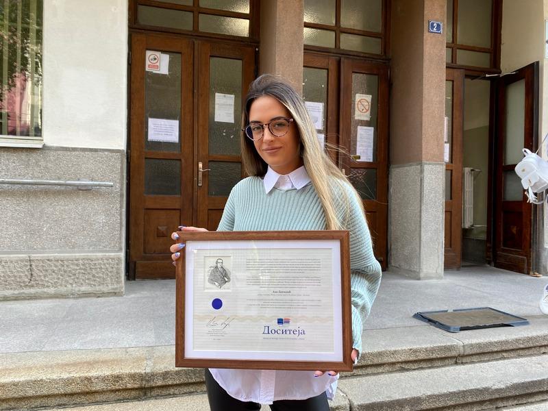 Ana Lapčević – dobitnica stipendije za izuzetno nadarene studente zadovoljna stečenim obrazovanjem