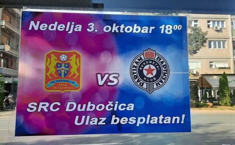 Dubočica i Partizan sutra u Leskovcu igraju derbi prvenstva