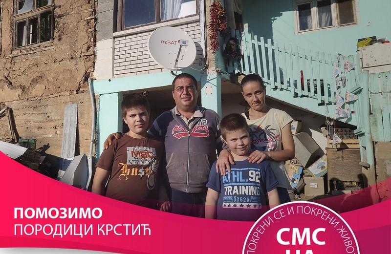 Šestočlana porodica Krstić živi od socijalne pomoći i dečijeg dodatka u dve sobe