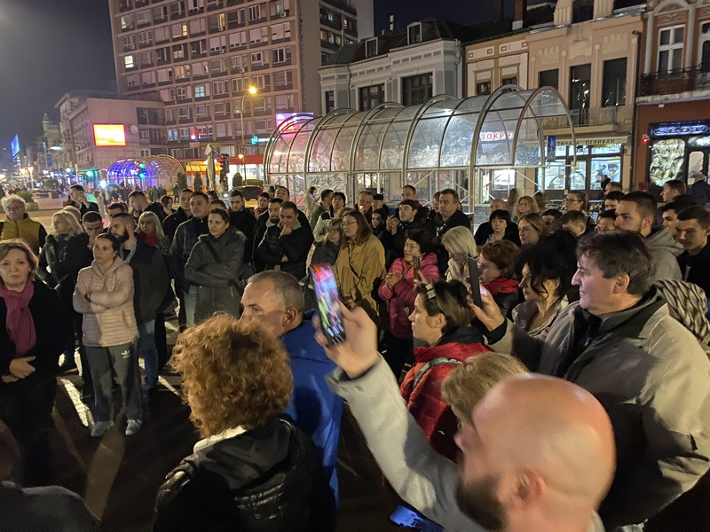 Protest u Nišu zbog najave uvođenja kovid propusnica