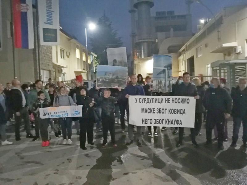 Protest zbog lošeg vazduha u Surdulici