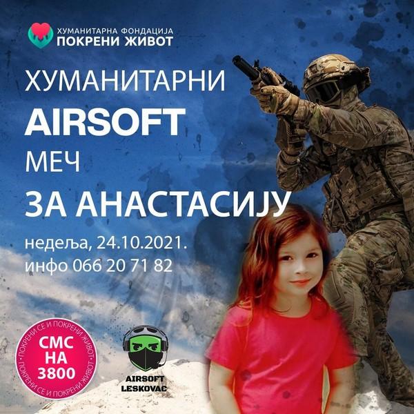 U nedelju humanitarni meč za Anastasiju Janaćković u Leskovcu